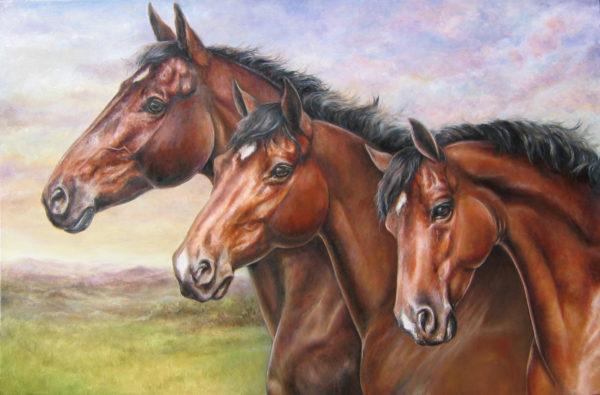 ktdukeartist-horse portrait-oil-three bays
