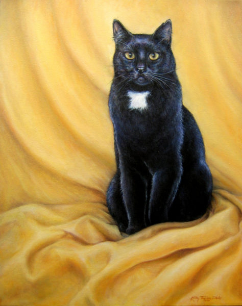 ktdukeartist-cat portrait-oil-turner