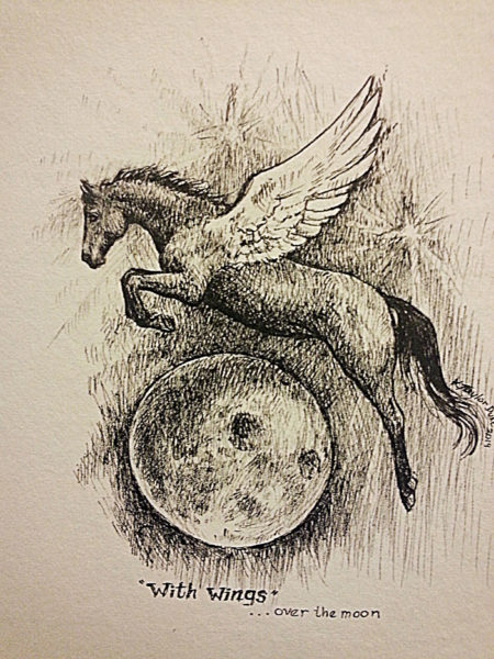 ktdukeartist-horse portrait-with wings-ink on paper