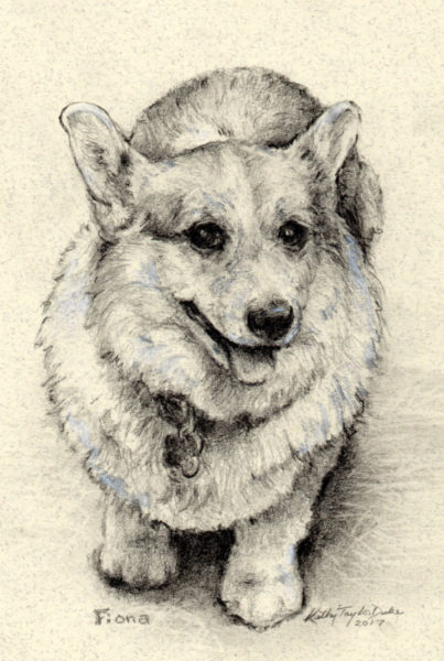 "5"" x 7"" pencil portrait by Kathy Taylor Duke"