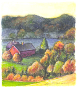 ktdukeartist-landscape-watercolor-vt farm